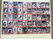 1980 OLYMPIC MIRACLE ON ICE HOCKEY UNCUT SHEET SAME AS CARD SET BUT UNCUT RARE