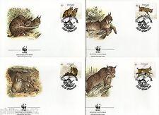 Portugal 1988 Lynx Big Cats Sc 1716-19 Wildlife Animal Mammal Fauna WWF FDC # 91