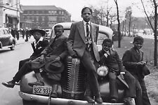 """SOUTH SIDE CHICAGO POSTER PRINT SUNDAY'S BEST (1941) BOYS SITTING ON CAR 24""""x36"""""""