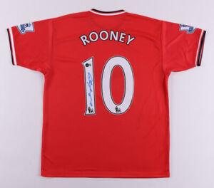 Wayne Rooney Signed Auto Manchester United On Field Jersey Beckett COA