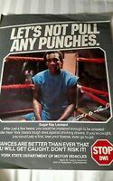 Sugar Ray Leonard Boxing New York State Stop DWI Poster
