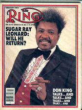 The Ring Boxing Magazine February 1984 Don King EX 060616jhe
