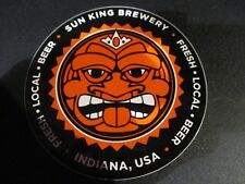 SUN KING BREWING Indianapolis logo Wee Mac blk STICKER decal craft beer brewery