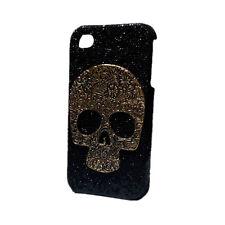 Bling Shiny Glitter Retro Bronze Skull Hard Back Skin Case Cover for Phones