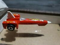 Vintage Hot Wheels Evil Knievel Rocket Car Red with Flames Diecast 1979 Malaysia
