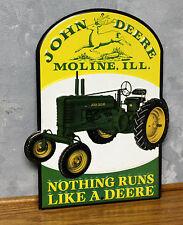 John Deere Farm Tractor Metal Vintage Style Signs Garage Gas Pump station repair