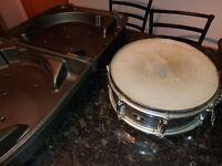 "Slingerland 14x5"" Snare Drum Chrome Steel 8-Lug Vintage 70s Niles,IL USA"