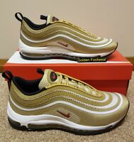 Nike Air Max 97 UL '17 Size 11 UK Gold Bullet Genuine Authentic Mens Trainers