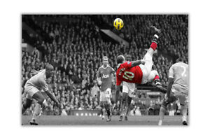 Famous Manchester United Wayne Rooney Bicycle Kick Poster Prints Wall Art