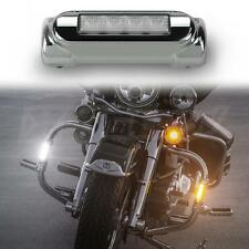 "Motorcycle Highway Bar LED Driving Lights Turn Signals Chrome Set fits 1.25"" Bar"
