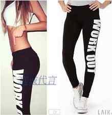 Women's Letter Legging Yoga Gym Running Fitness Sports Trouser Training Pants
