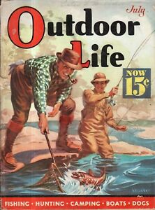 1938 Outdoor Life - July - You would enjoy a dog's life; Killer mountain lions