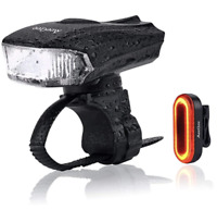 Waterproof USB Rechargeable Front & Back Rechargeable LED Lights 2pc 400 Lumens