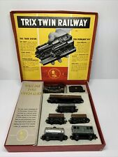 More details for vintage rare oo  trix twin railway train set boxed br 6201 loco untested vgc