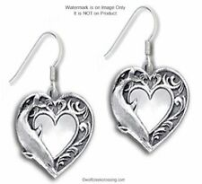 DOLPHIN HEART LOVE EARRINGS - DOLPHINS JEWELRY OCEAN SEA GIFT - FREE SHIP  #Hk*