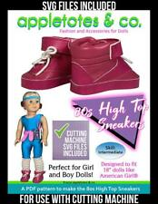 American Girl Doll Sewing Pattern - 80s Hightop Sneakers SVG Files Included