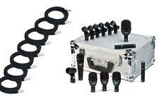 Audix*FP7+Cables Bundle*7-Piece Fusion Drum Microphone+7XLR Cables FREE SHIP NEW