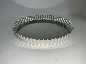 "Williams Sonoma TART 10.25"" TIN Made in France Metal Tin 1"" Deep Detachable"