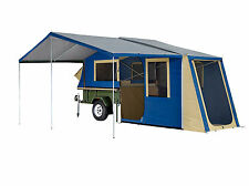 OZTRAIL OUTER RIDGE SCOUT CANVAS CAMPER TRAILER TOP TENT + sunroom & floor