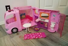 Barbie Motor Home 2008 Pink Glamour RV Motor Home Assortment Accessories Lot