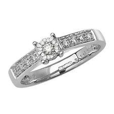 Cluster Ring aus Weißgold mit Diamanten
