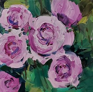 JOSE TRUJILLO Oil Painting IMPRESSIONISM CONTEMPORARY GARDEN FLOWERS FLORAL