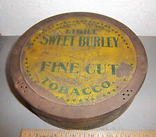vintage Sweet Cuba large round tobacco tin, great colors & graphics sweet burley