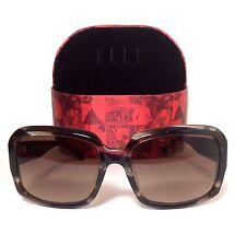ELLE Sunglasses EL18952 BR 58/125 Brown Tortoise Frame and Brown Gradient Lenses