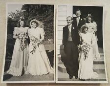 2 vintage black and white wedding photographs Tauranga, NZ 1948