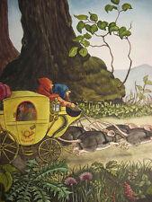 """Max Radler: """"Waldpost"""". signiert, datiert 1948, Tempera, Illustration"""