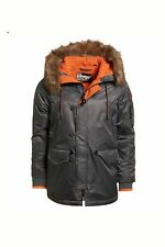 ***EXCLUSIVE SALE*** NEW RRP£124.99 LARGE MENS SUPERDRY SD-3 PARKA COAT GREY