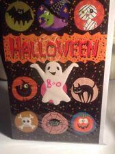 Halloween Greeting Card NIP Ghost And Goblins Unused+env