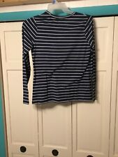 girl top brand time and tru size s ch 4-6 color blue long sleeve