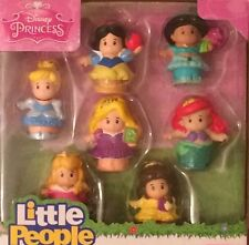 NIB Fisher Price Little People Disney Princess 7 Figure Pack Ariel, Aurora Toy