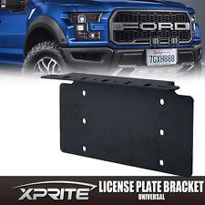 Front Bumper License Plate Mount Bracket LED Light Bar Holder Offroad Black