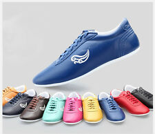 9color Genuine Leather Kung Fu Martial Arts Tai Chi Shoes Wingchun MMA Sneakers