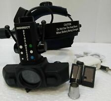 Indirect Ophthalmoscope Binocular Rechargeable Led Optometry 20D Lens New