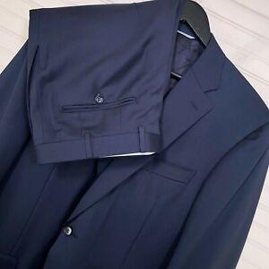 Canali 100% Wool 2pc. Suit MOD: 13290/37 Men's Size US 42L/W34 Navy Blue