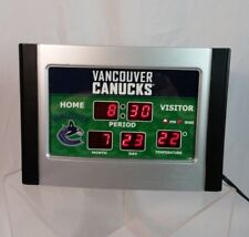 Vancouver Canucks Hockey NHL Scoreboard alarm clock