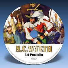 N.C. WYETH ART PORTFOLIO - Over 800 Illustrations on DVD! * Full Colour Plates