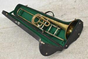 g51c16- Blasinstrument mit Koffer, Zugposaune