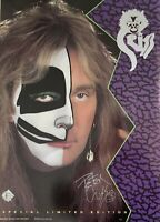 Kiss , Peter Criss autographed Cat1 Promotion Poster From 1993 . Number 60