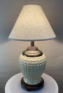 Vintage Retro Mid Century Modern Brutalist Mace Spike 1970s Epcot Porcelain Lamp