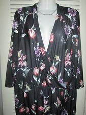 MLLE GABRIELLE Women Cross Cleavage FLORAL Jumpsuit Clubwear Party PLUS Jrs 3X**