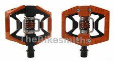 Crank Brothers Double Shot Clipless & Platform Bike Pedals Black Orange Red Blue