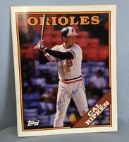 CAL RIPKEN JR. AUTOGRAPHED 1988 Topps Duo-Tang School Pocket Folder HAND SIGNED