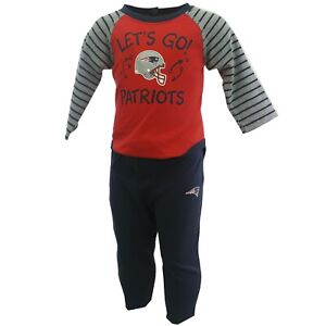 New England Patriots Official NFL Baby Infant Size 2 Piece Creeper & Pants Set