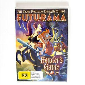 Futurama Benders Game DVD Movie Free Post Region 4 AUS - Animation Comedy