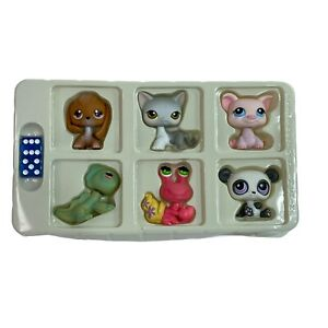 Littlest Pet Shop Lot Of 6 Pieces Tokens Monopoly Replacement Parts With Dice