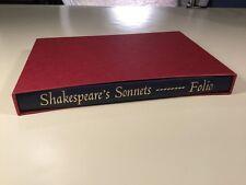 Book Shakespeare's Sonnets Lovers Complaint Intro Duncan-Jones Folio Society